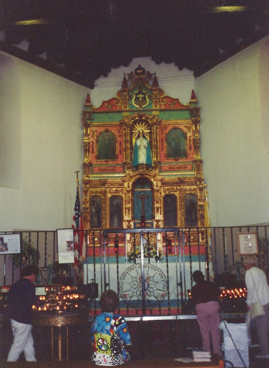 Smaller and older chapel inside of St. Francis Cathedral.