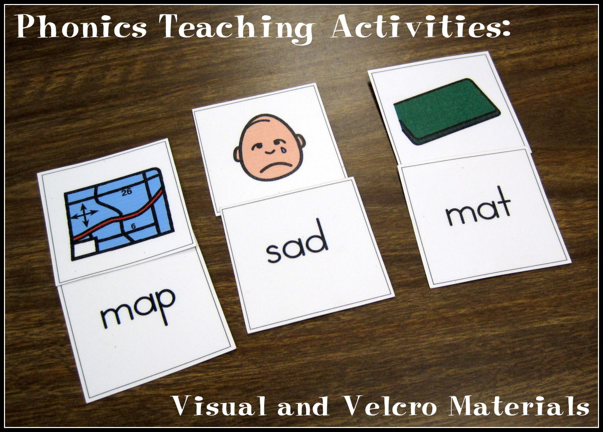 Phonics Teaching Activities: Visual and Velcro Materials