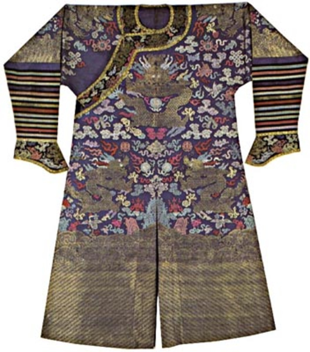 Ancient Chinese garments made of silk