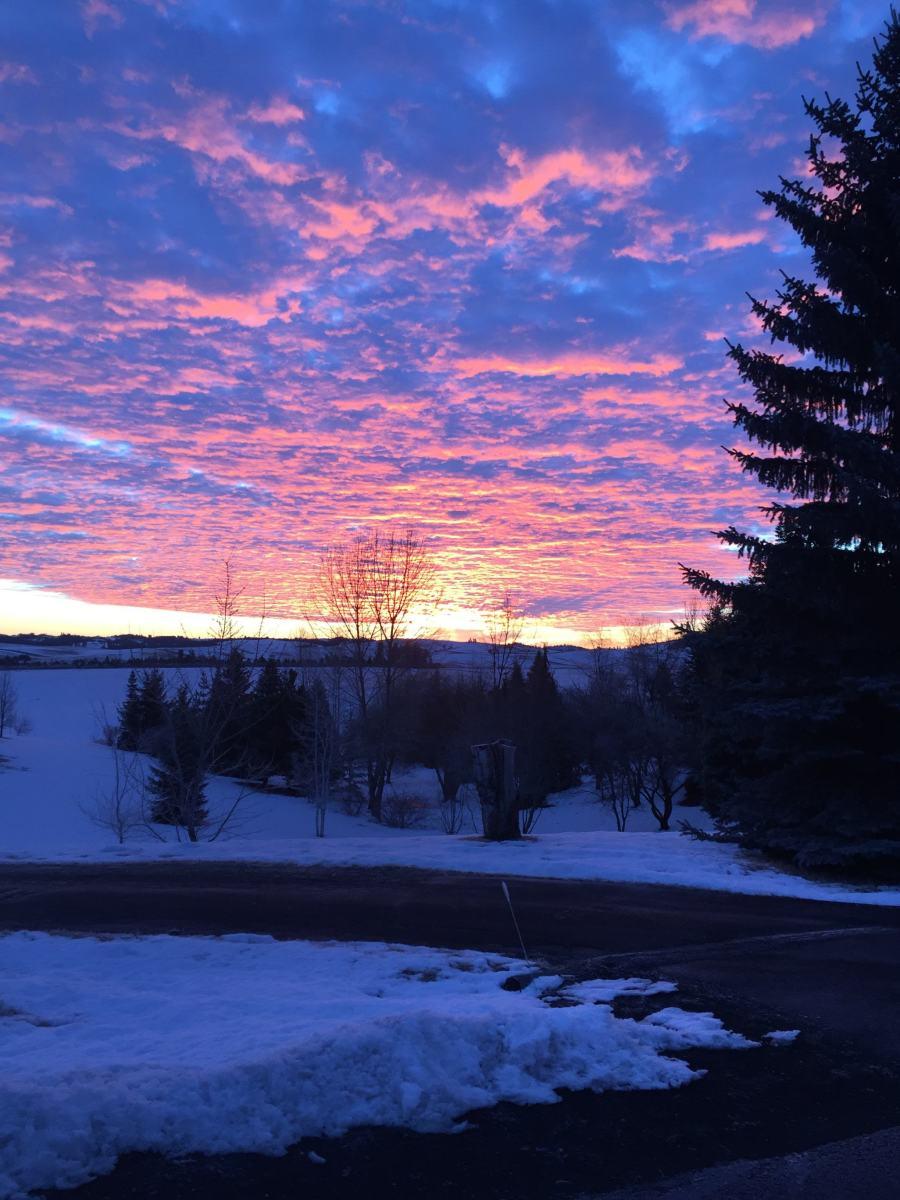 Sunrise 4 Jan 2018, Moscow, Idaho, USA