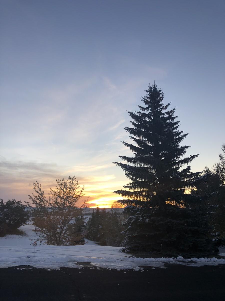 Sunrise on 27 October 2020, Moscow, Idaho, USA