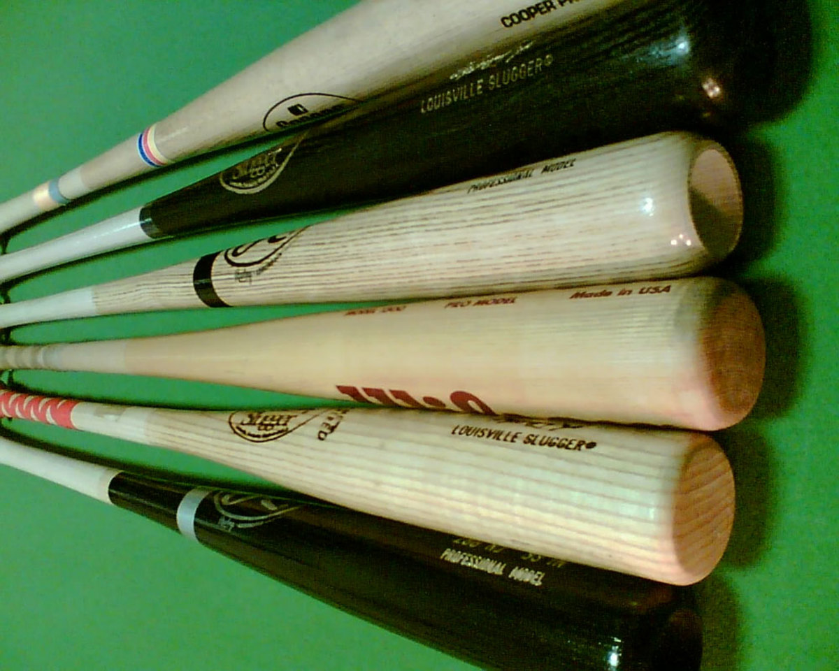 Different kinds of wooden baseball bats are used in NCAA sanctioned summer leagues.