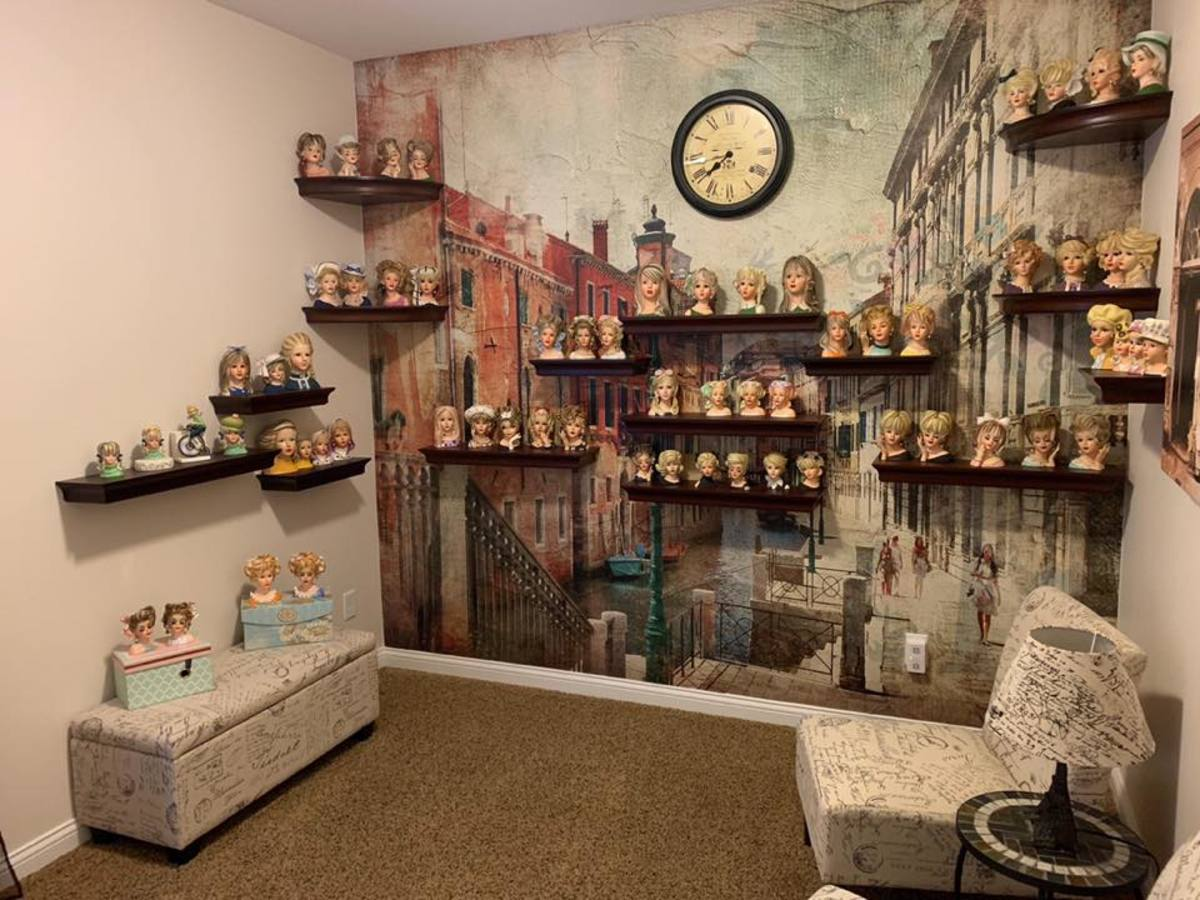 Update--10-21-2018--Brian and Leslie Rogers recently added to and updated their head vase display! Doesn't it look great?