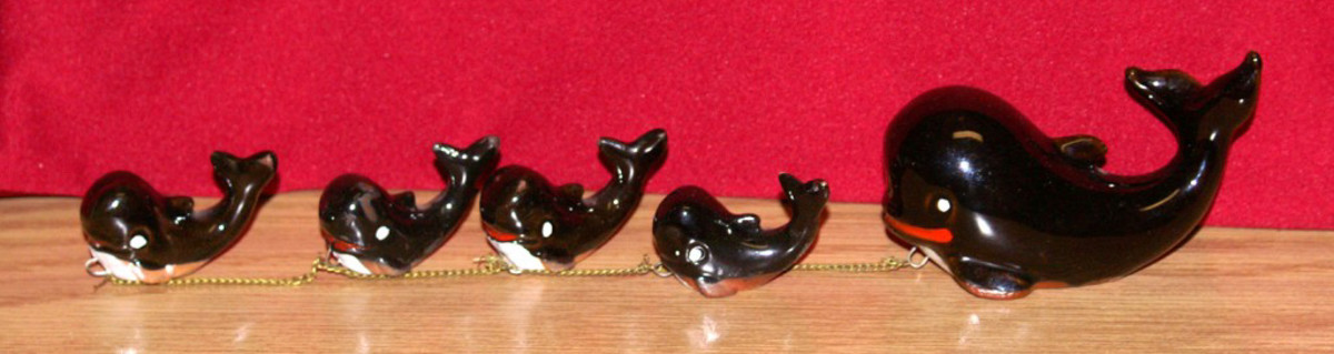Mid-Century Chained Whale Figurine
