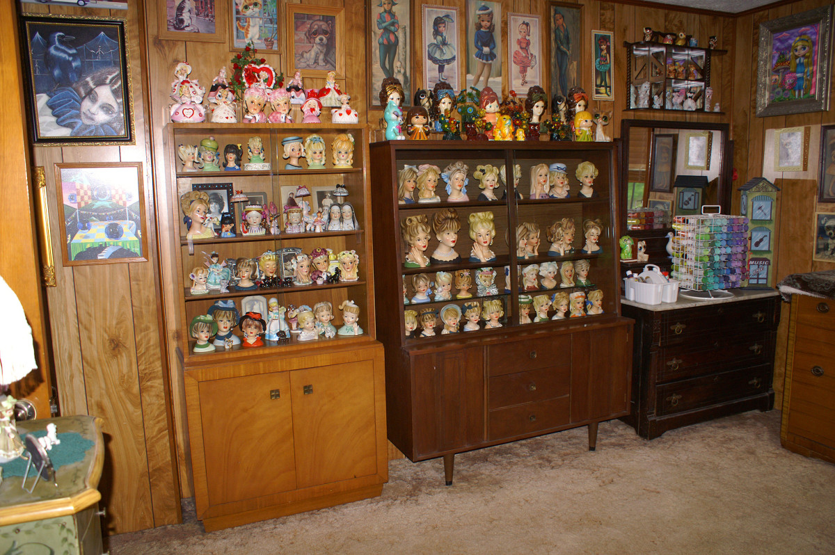 Mid-century cabinets housed in my art studio