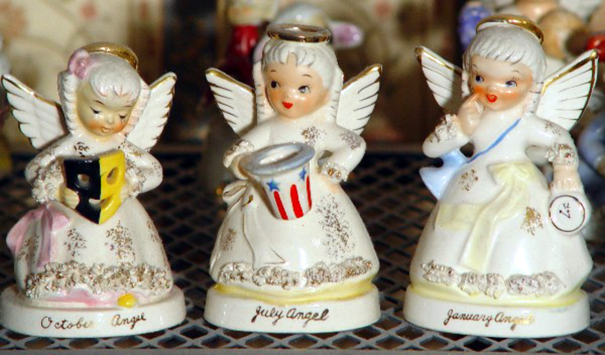 Mid-Century Napco Birthday Angels