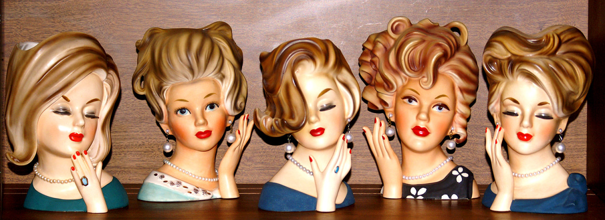 "Parma girl in the cabinet with her ""sisters"""