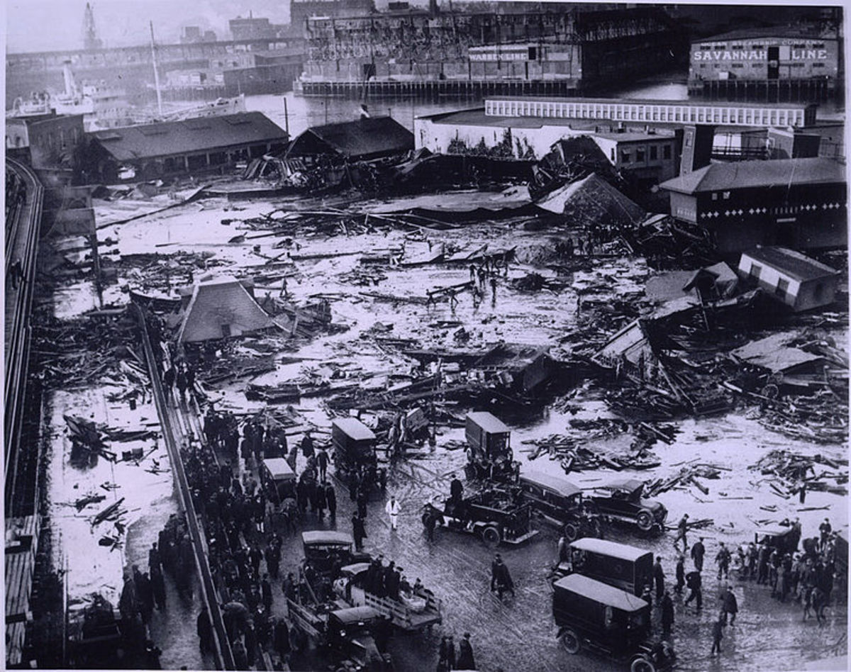 Molasses flood in Boston