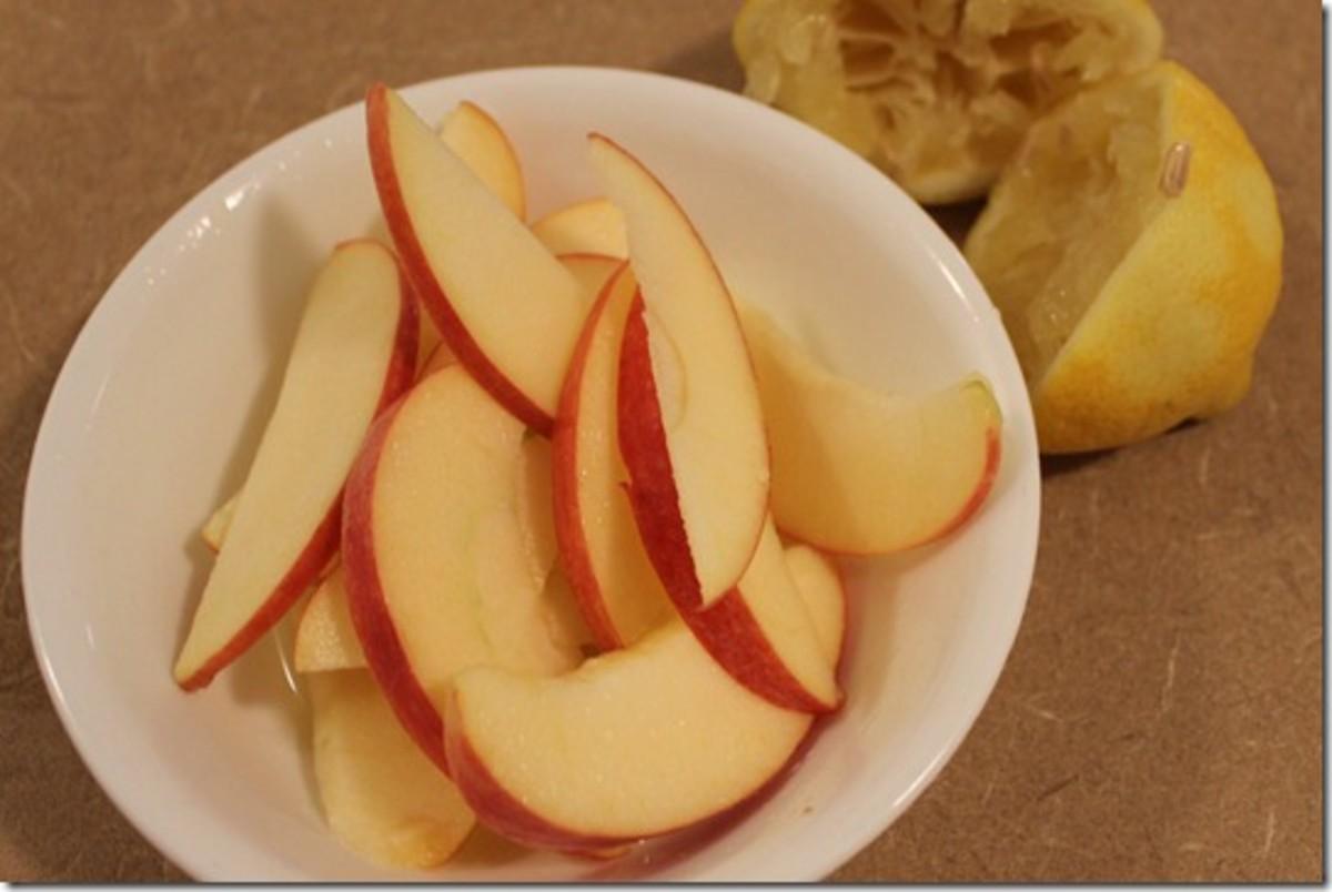 Apples turn brown