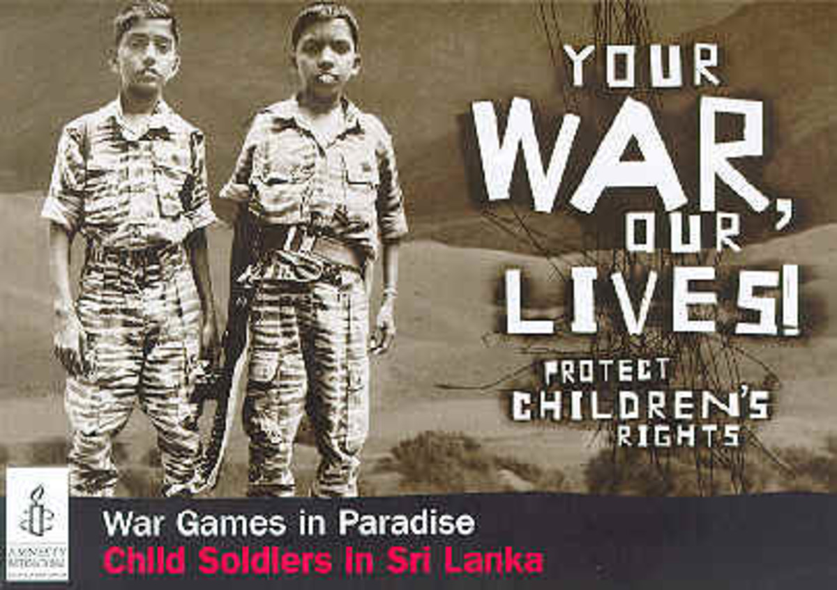 Your War - Our Lives, Protect Children's Rights Anti-Child Conscription Poster