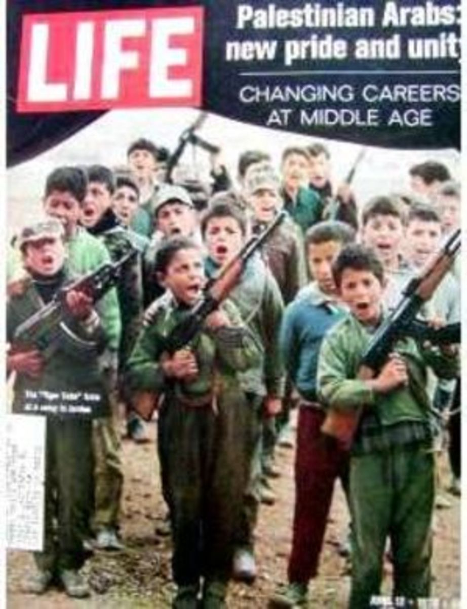 Life Magazine gave the front page to the story of Palestinian child terrorists