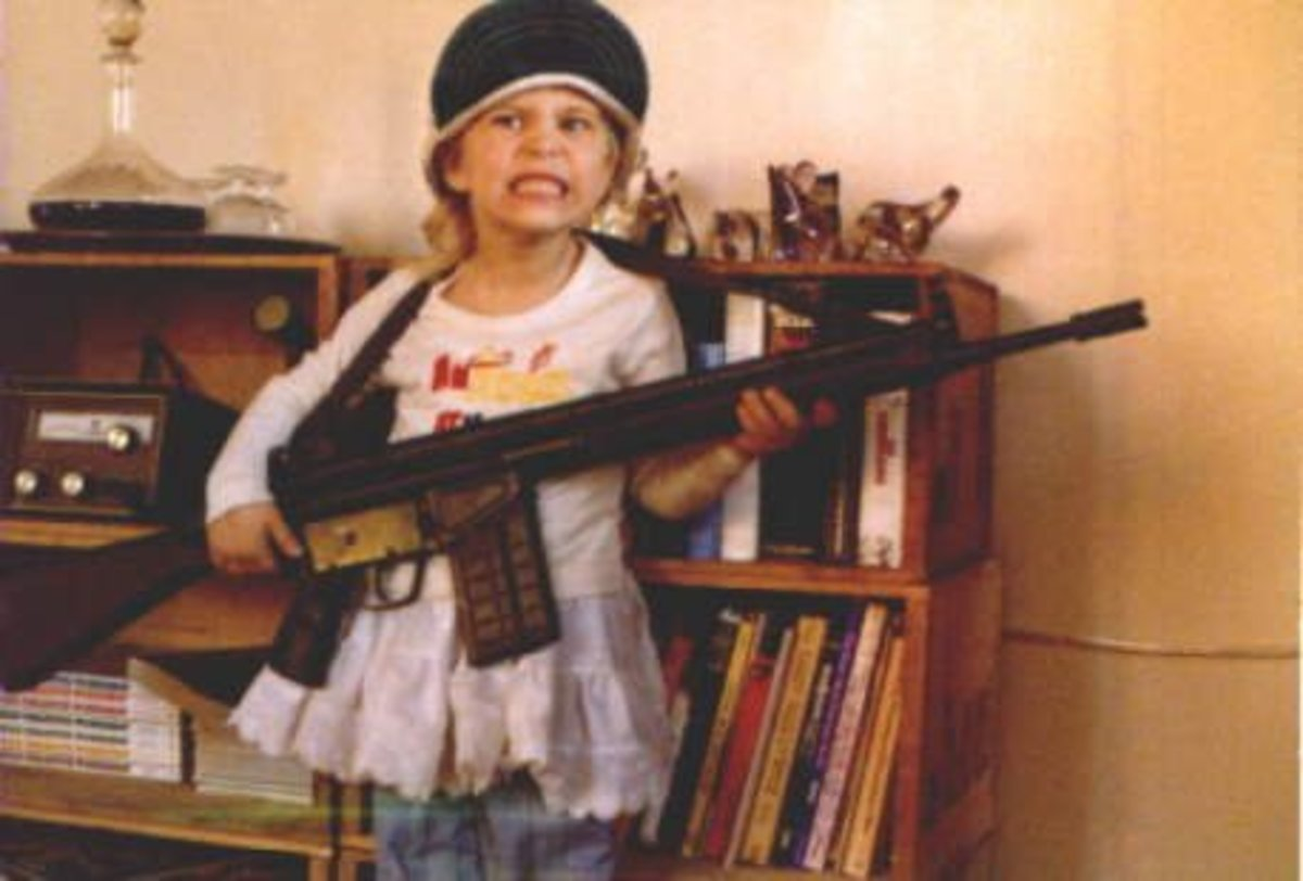 "In the United States someone thought that it was funny to take a picture of their daughter dressed up like a terrorist and use it for their blog as a ""cute"" reference to their child-rearing blog...I can't help but wonder what message this is sending"