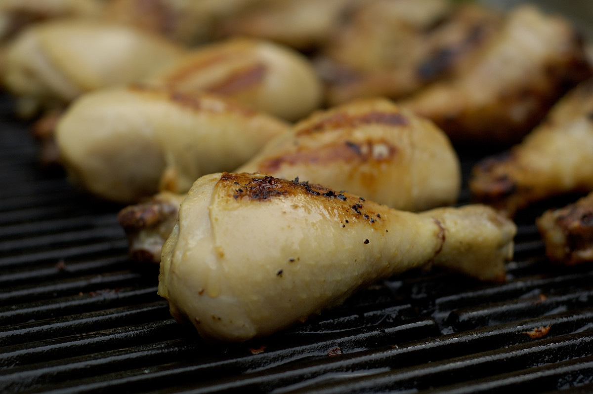 Try a BBQ. It's an easy way to grill chicken and get your B3