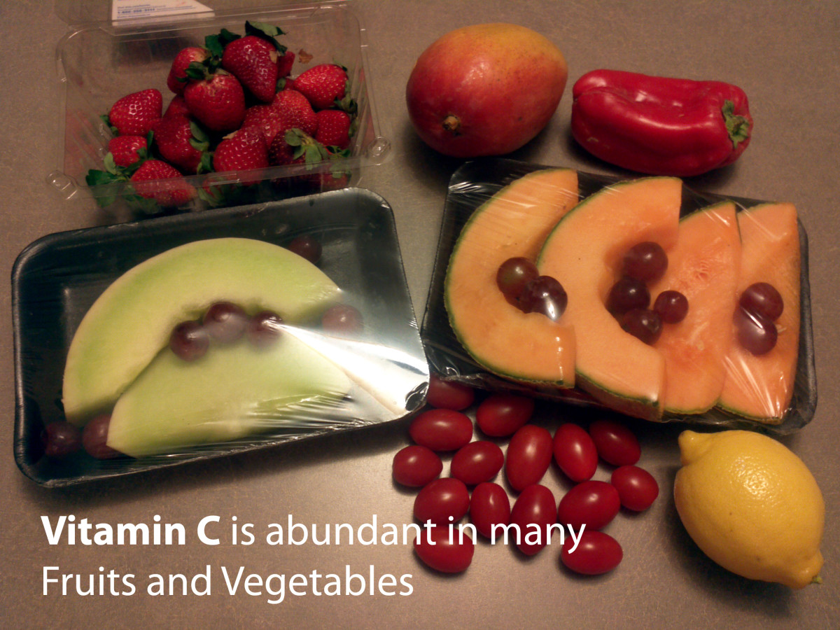 Fuits and vegetables contain Vitamin C