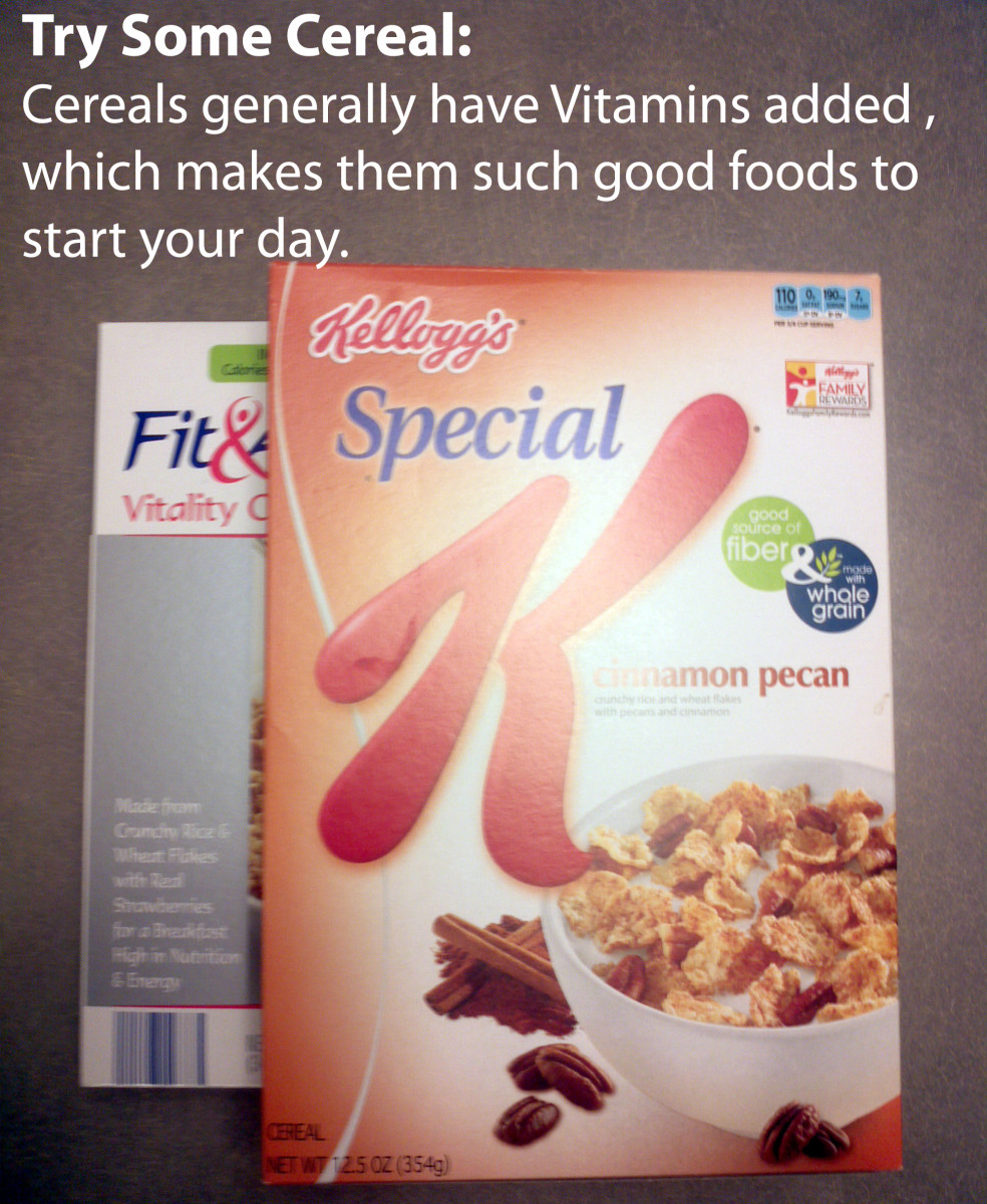 Cereals often contain added Vitamins