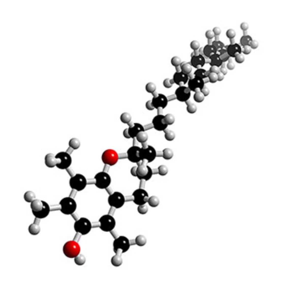 3-D Model of Vitamin E