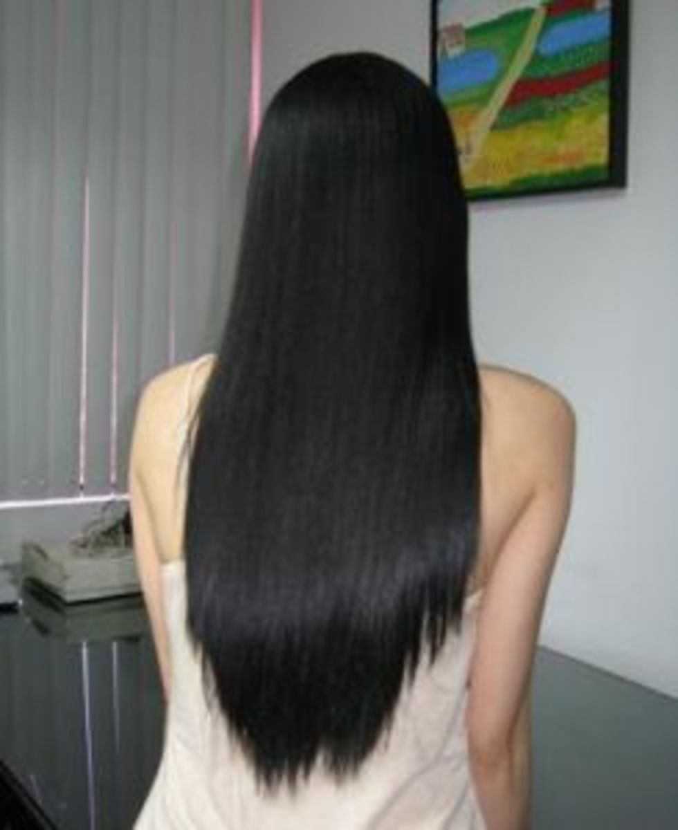 beautiful healthy rebonded hair