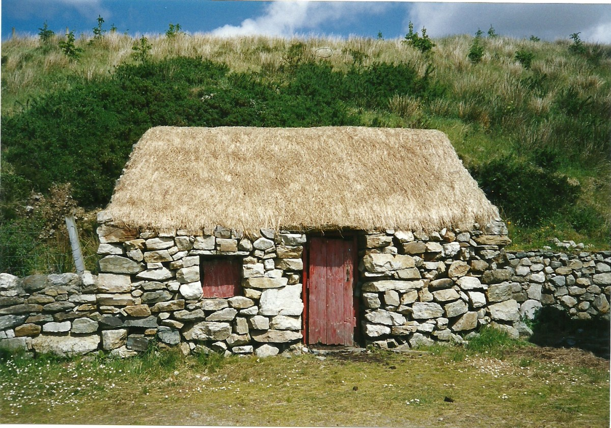 Thatched Cottage, Connemara, Co. Galway, Ireland