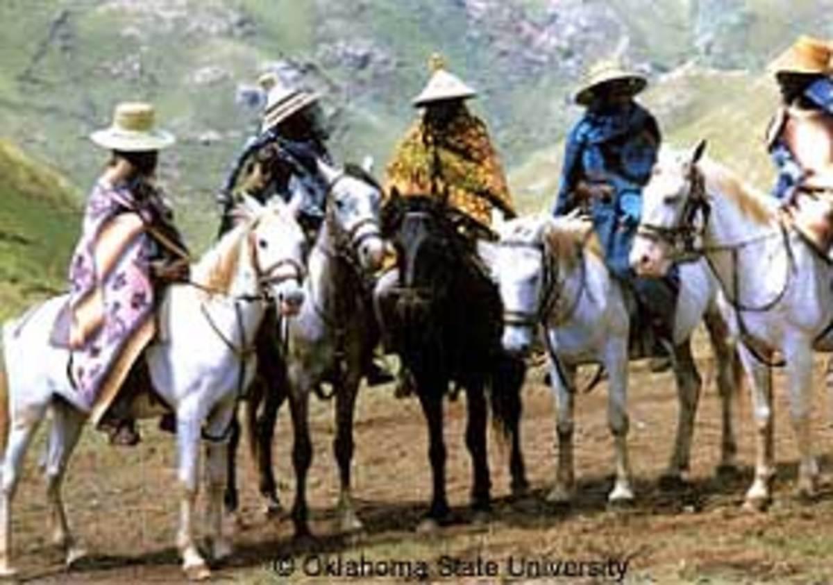 Basotho Men riding their horses in the Maluti's(Mountains)