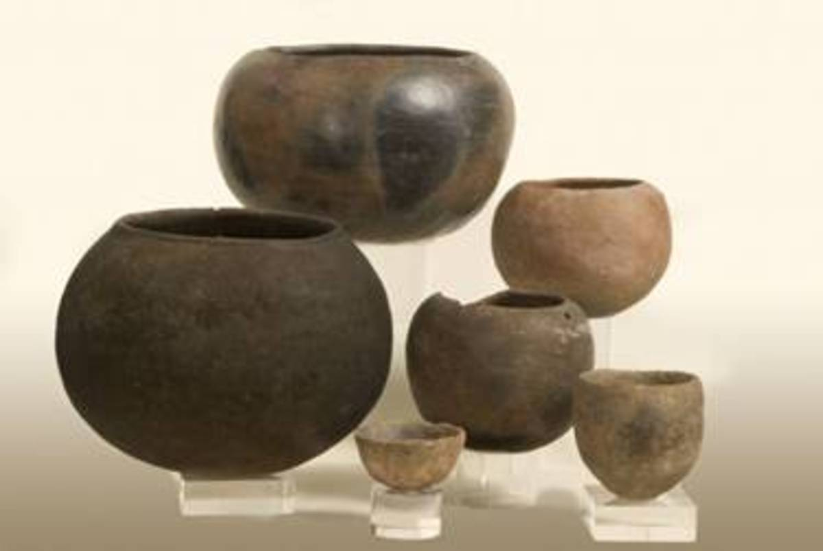 These ceramics shown here were found in Mapungubwe and some have been dated between AD 120 and AD 1030