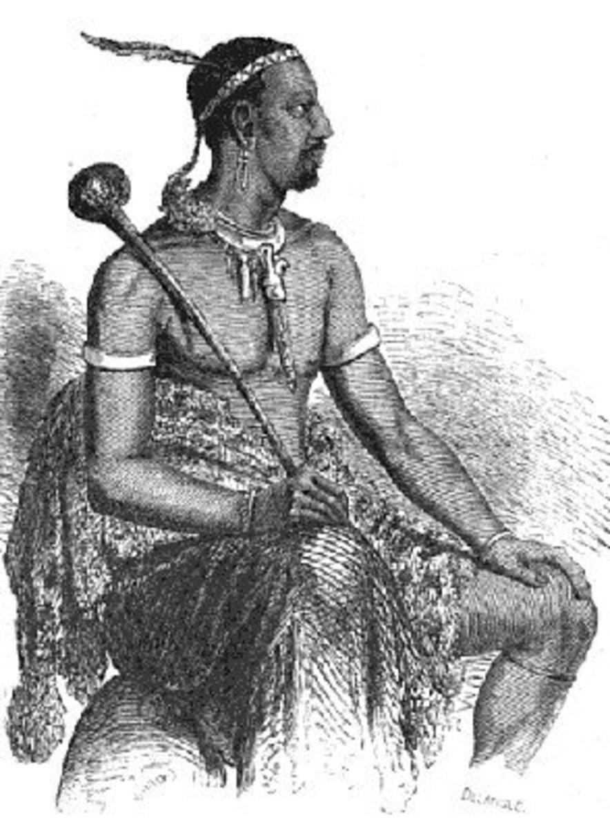 King Moshoeshoe I of the Basotho People around the 1800s