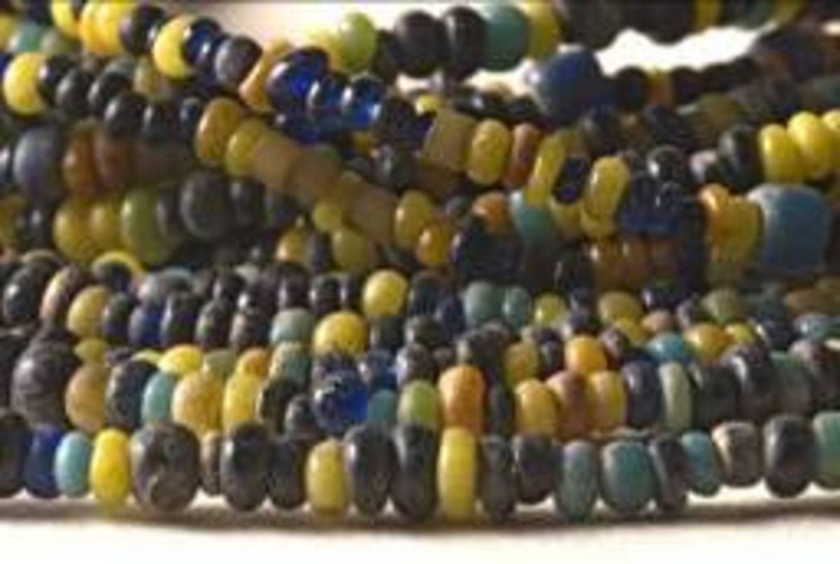 The Glass beads suggest a trade with the East and China and North Africa by the people of Mapungubwe; there was also trade around the 10th century with local Tswana, Pedi, Swazi and Sotho peoples of South Africa