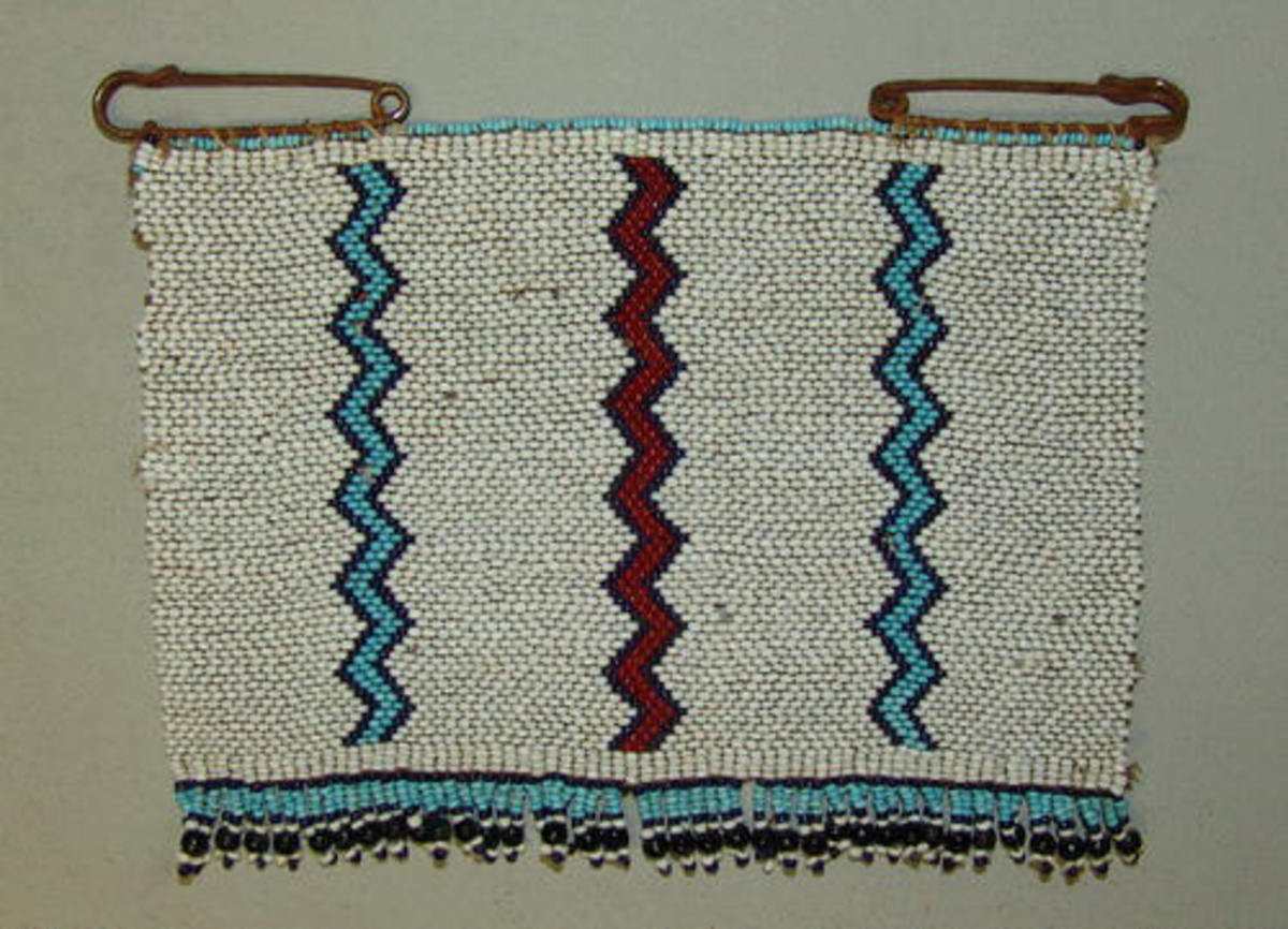 """Xhosa . This is called """"Ithumbu"""" Xhosa Bead Blanket Pin or Cloak Pin- This beaded pin is referred to as a """"Love Letter"""", is large and is considered a bead panel"""