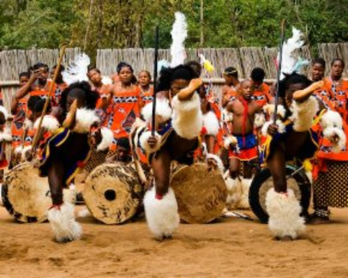 """Mantena cutural village know as""""Ligugu Lemswati""""(the pride of the Swati people"""" is where anyone wanting to learn about the Swazi culture can go."""