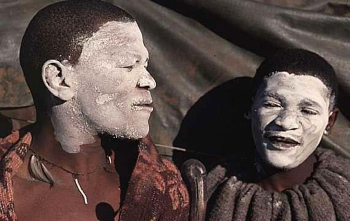 """The Sotho Boys in """"Lebollo""""(Circumcition)"""