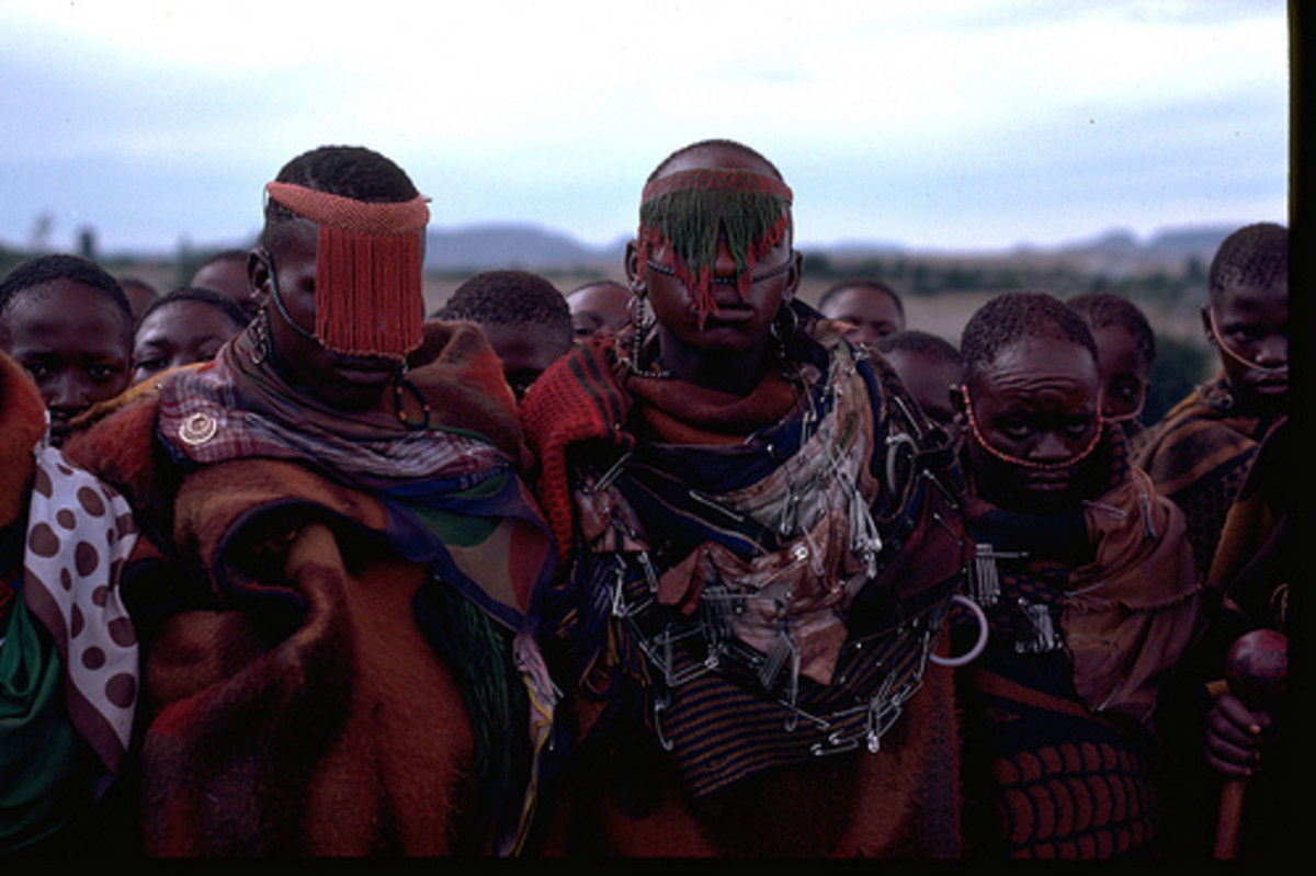 """Boys from the circumcision """"Mophato"""" [""""lodge or compound""""]. the Basotho believe that if a boy is not circumcised, he will not mature. There are many absurd stories about the boys' initiation. The hub has given, but a glimpse of it."""