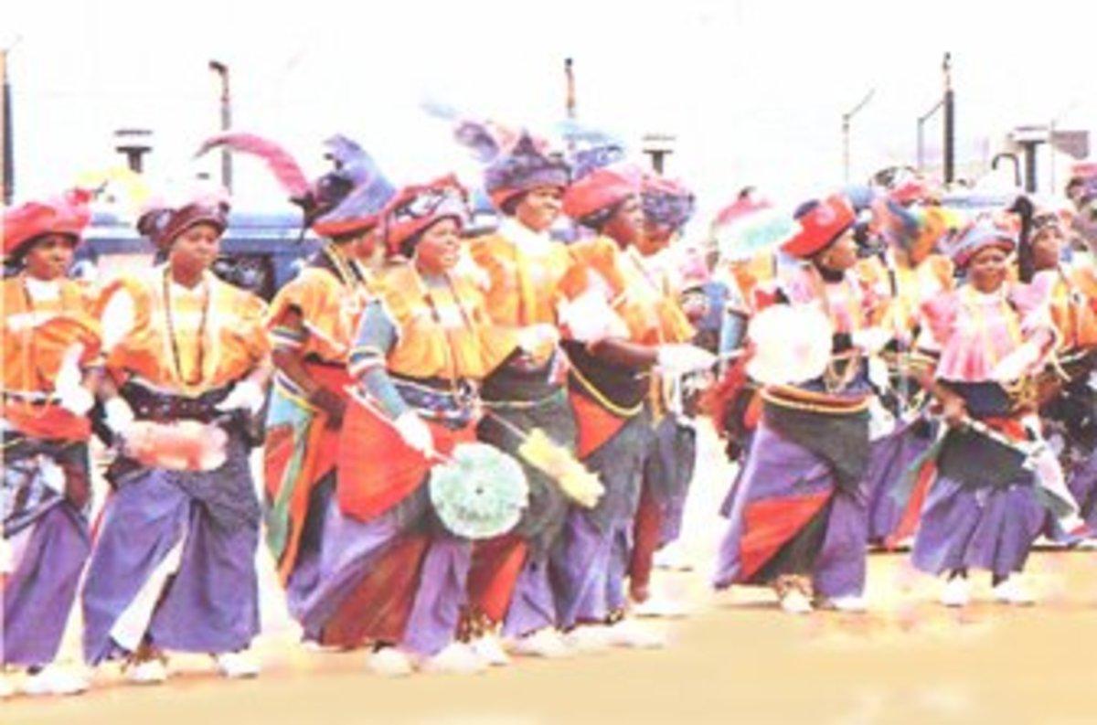 The Bapedi Women(Northern Sotho Nguni/Bakone) in their traditional dress