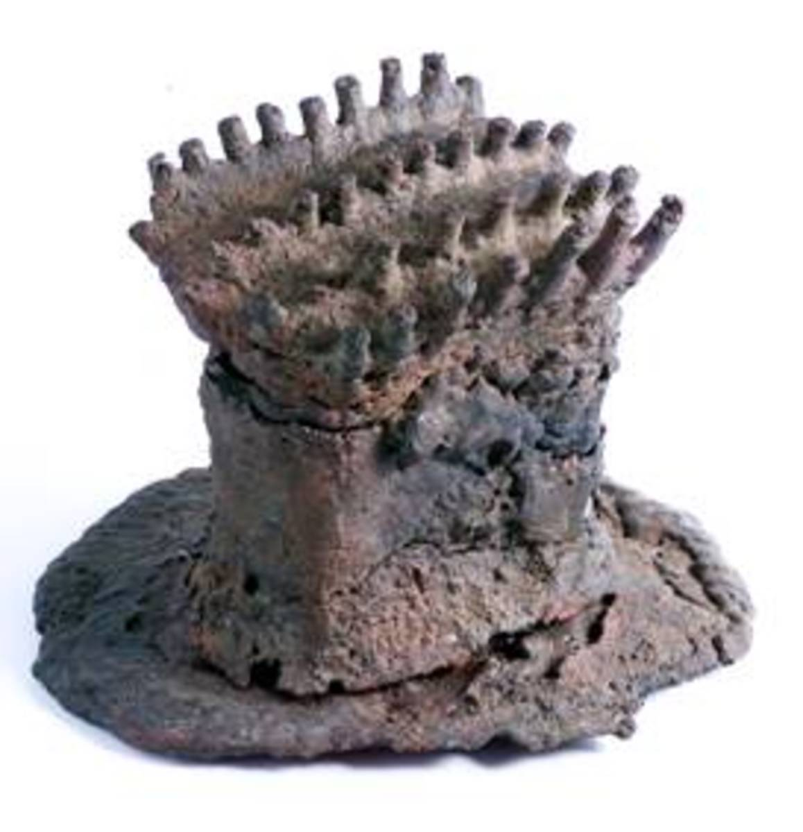 This is the iron works of mapungubwe; in the collectionfrom Mapungubwe you found bangles, anklets, beads, arrowheads, spears, rings, wire, plate, link, pins and pendants; alsom meturlurgical material resulting from smelting and smithing processes