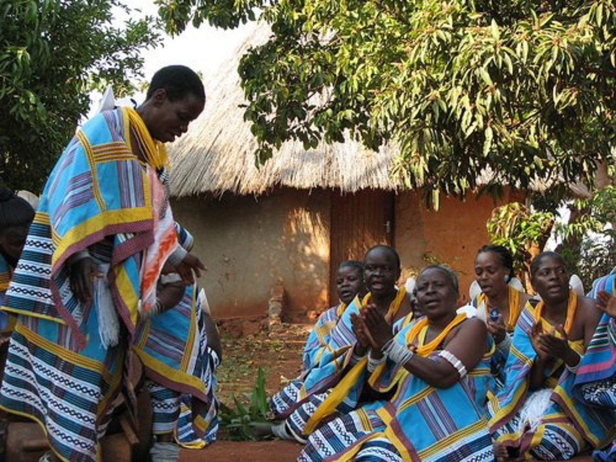 The Venda People in their traditional attire