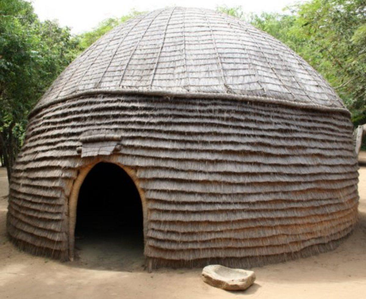 A Zulu people's hut