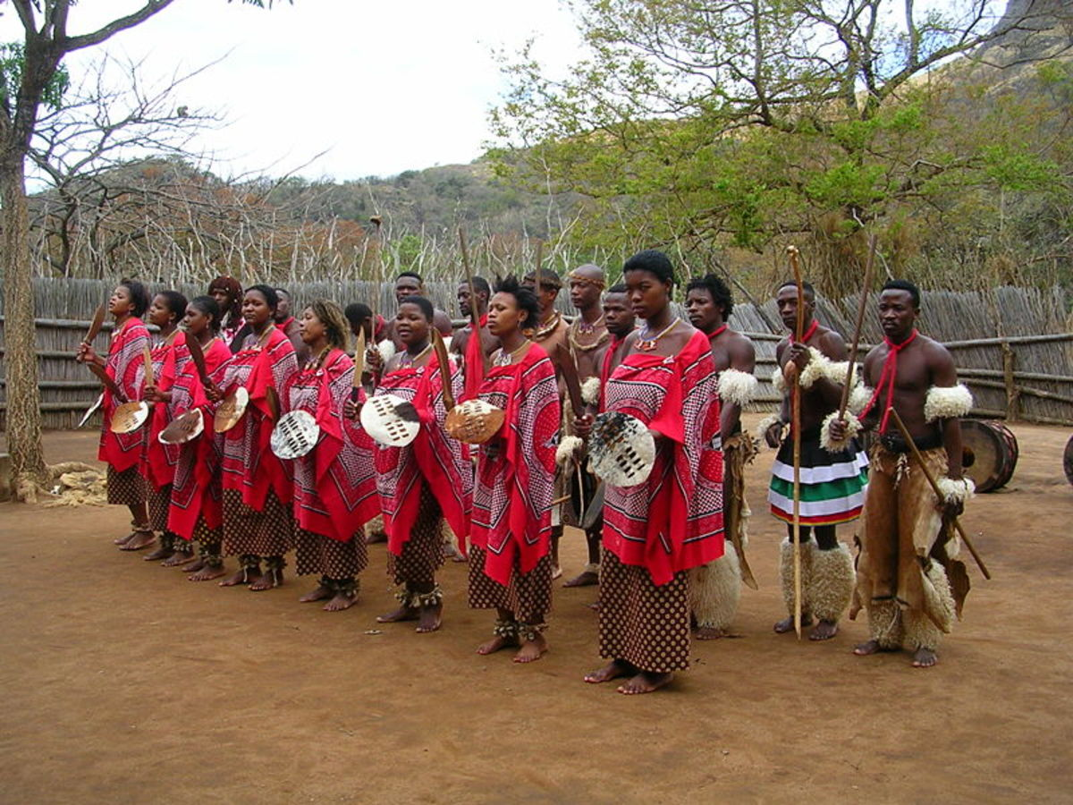 Swazi People in their Traditional dresses