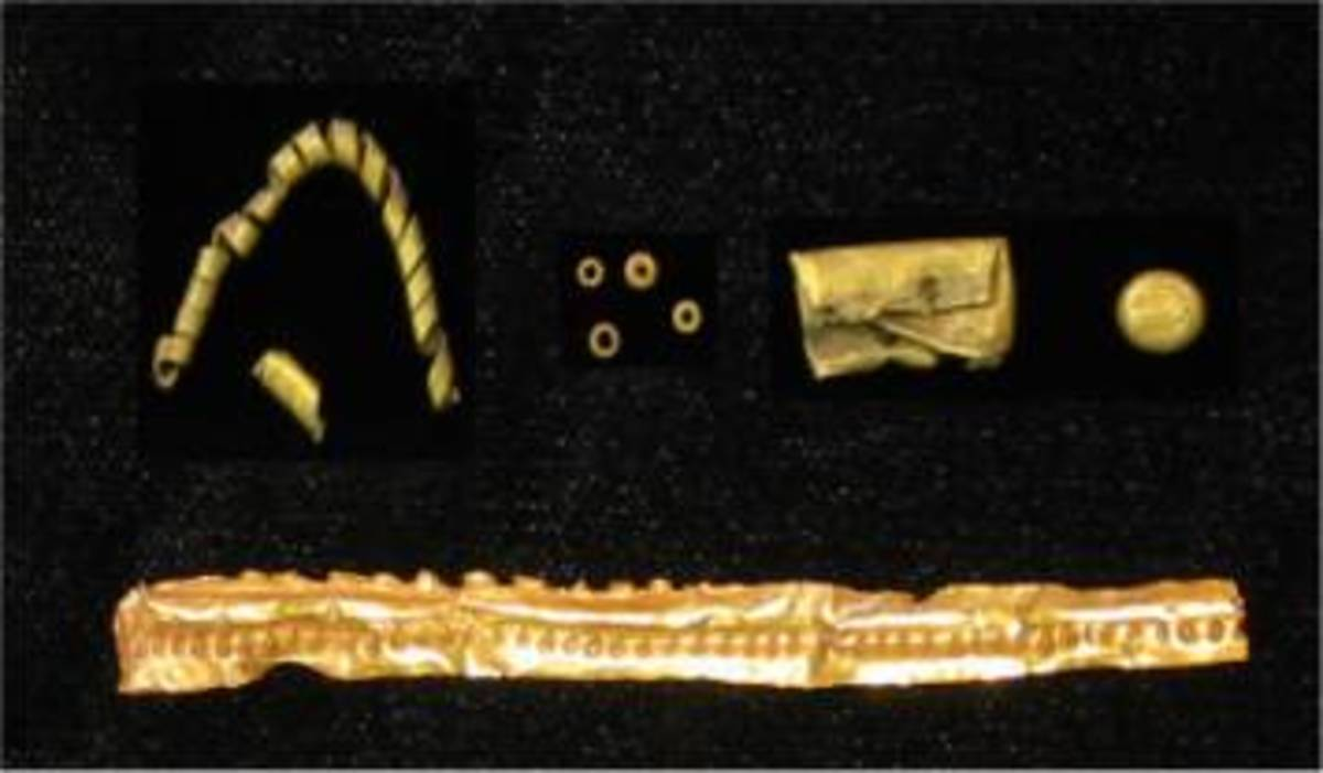 Golden Accessories and Artifacts found in Mapungubwe hill