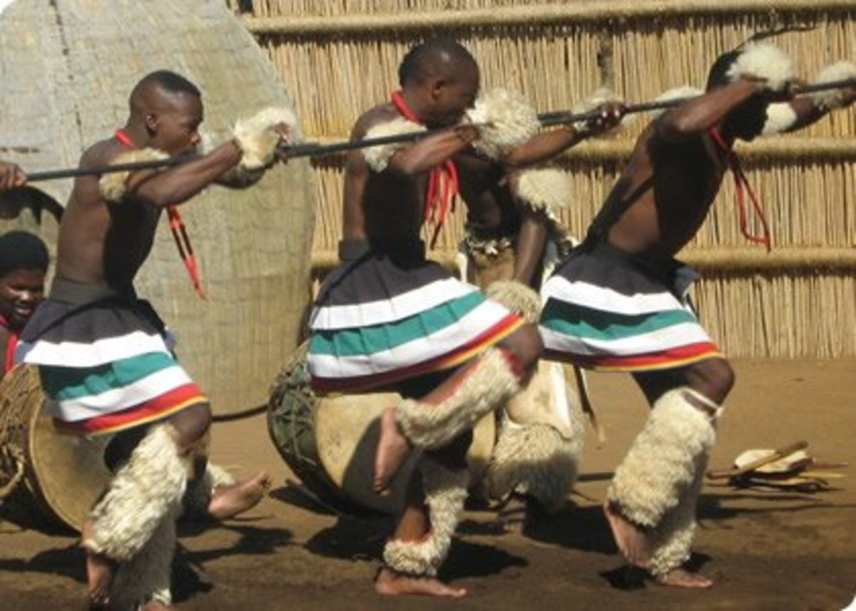 Traditional dancing in south Africa is part of the way of life of the indigenous