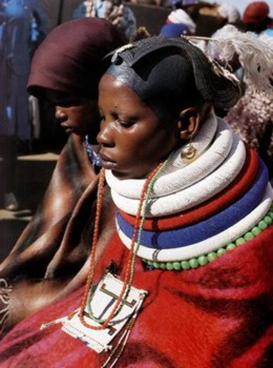 Ndebele Woman if full tradition wear