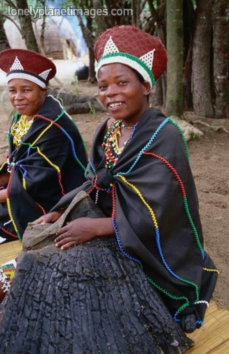 When Zulu women get married, they cover their bodies completely to let other know that she has a husband