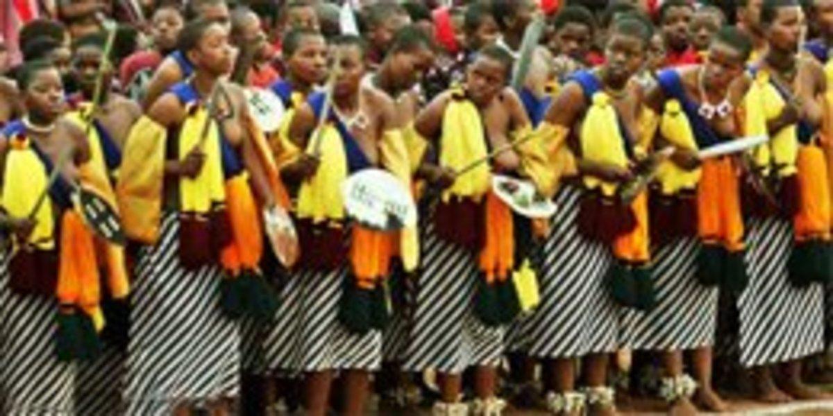 Swazi Women in Swazi traditional wear