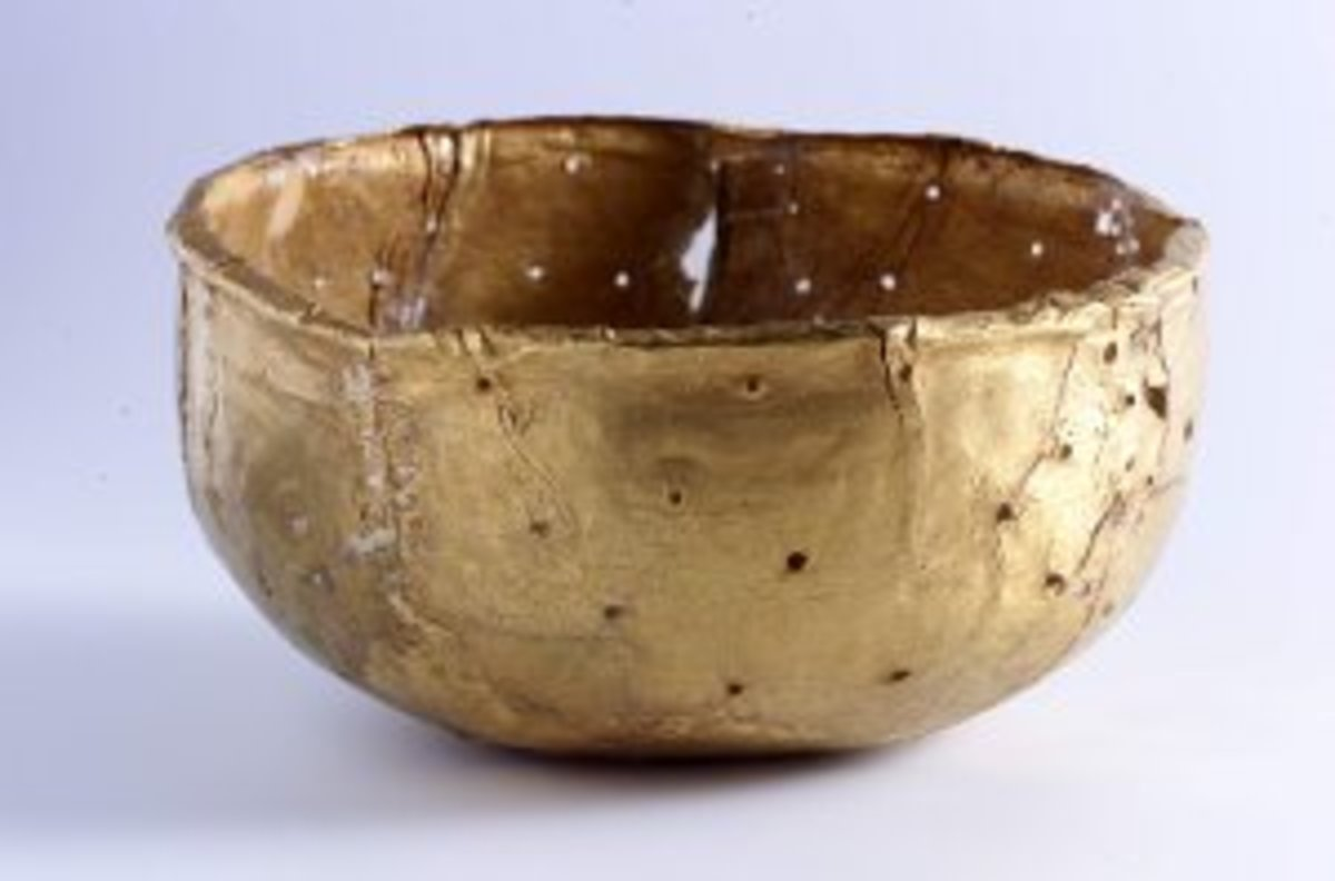 Golden perforated dish found in Mapungubwe