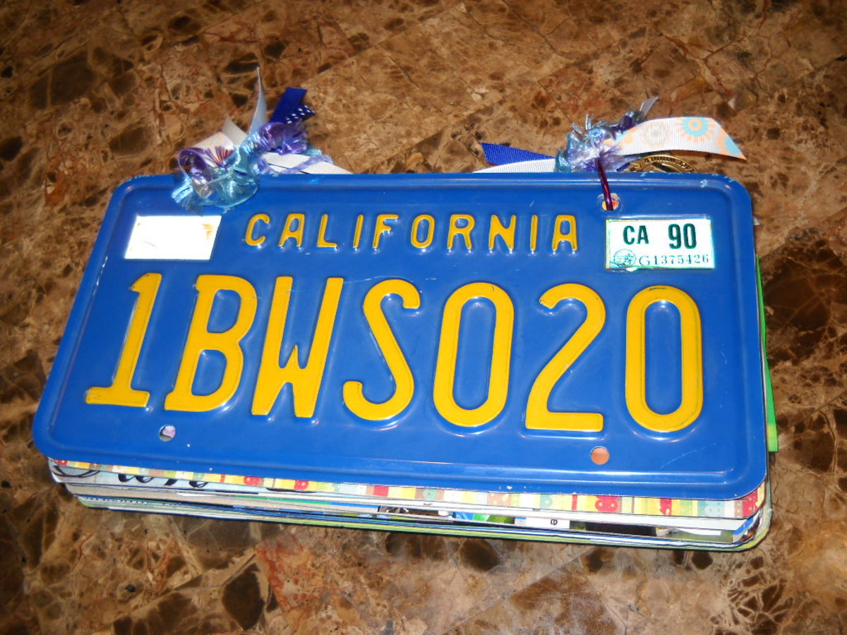 How to make a License Plate Scrapbook