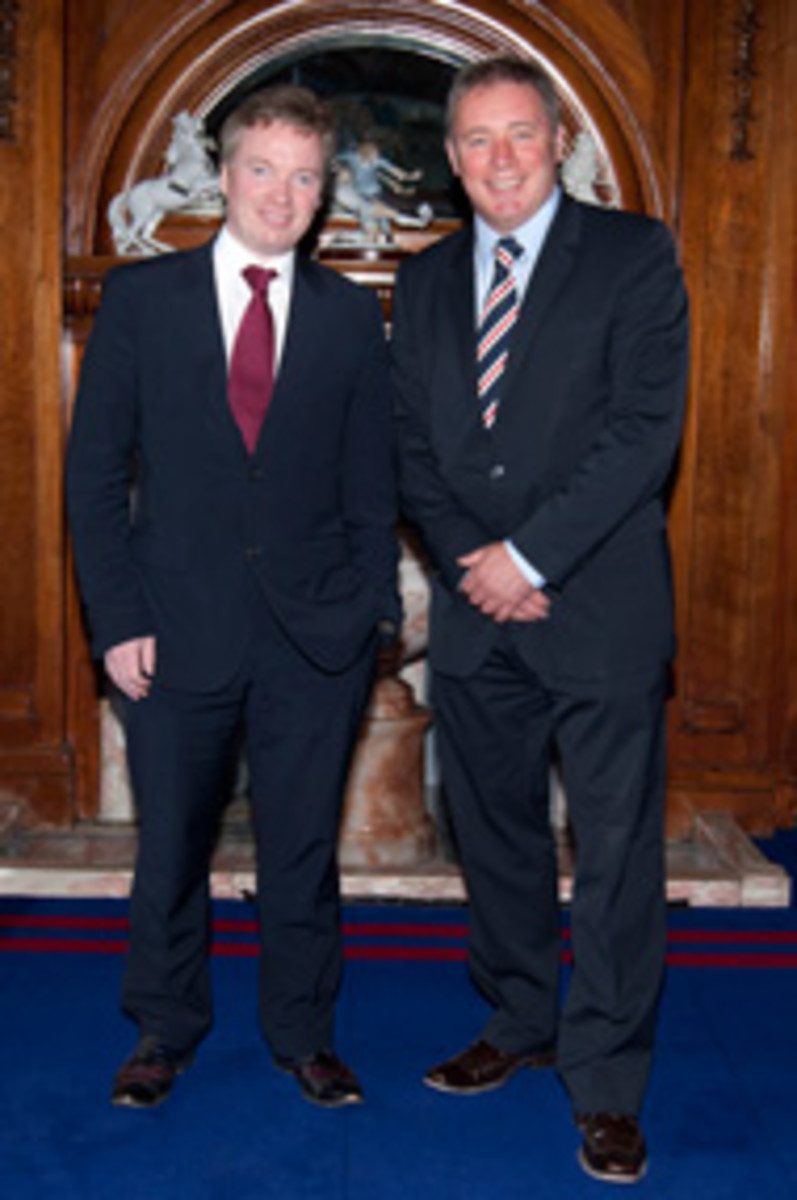 McCoist with new Rangers owner Craig Whyte.