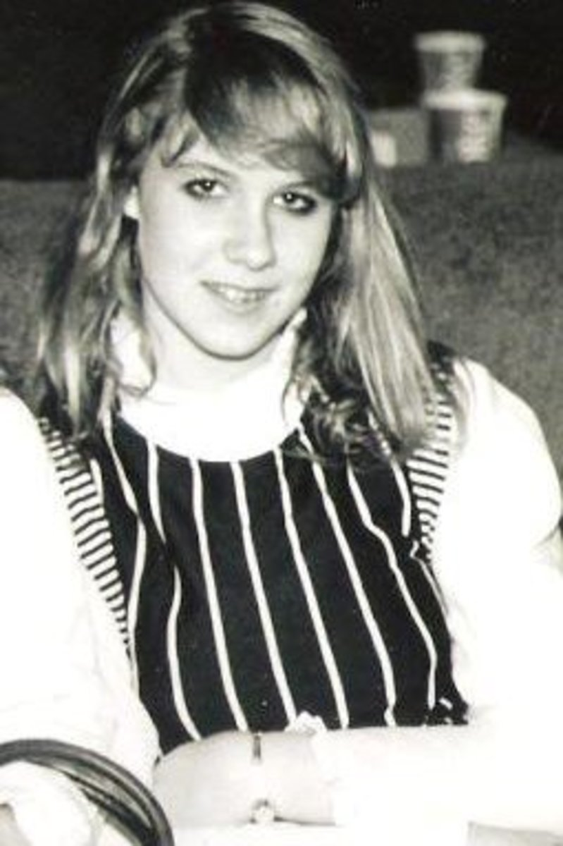 Me at 17.  I hated my hair, my braces, and my toes.  I got my heart broken that year by my long-time high school boyfriend, and didn't think I would survive it.  I felt awkward, like I just didn't fit in....But I survived!
