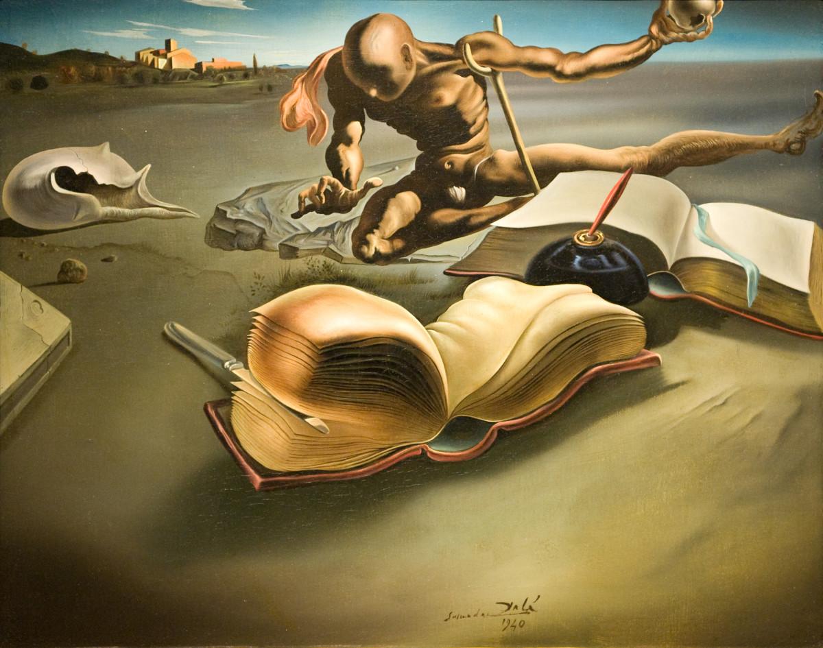 Salvadore Dali - Book Transforming Itself Into a Woman