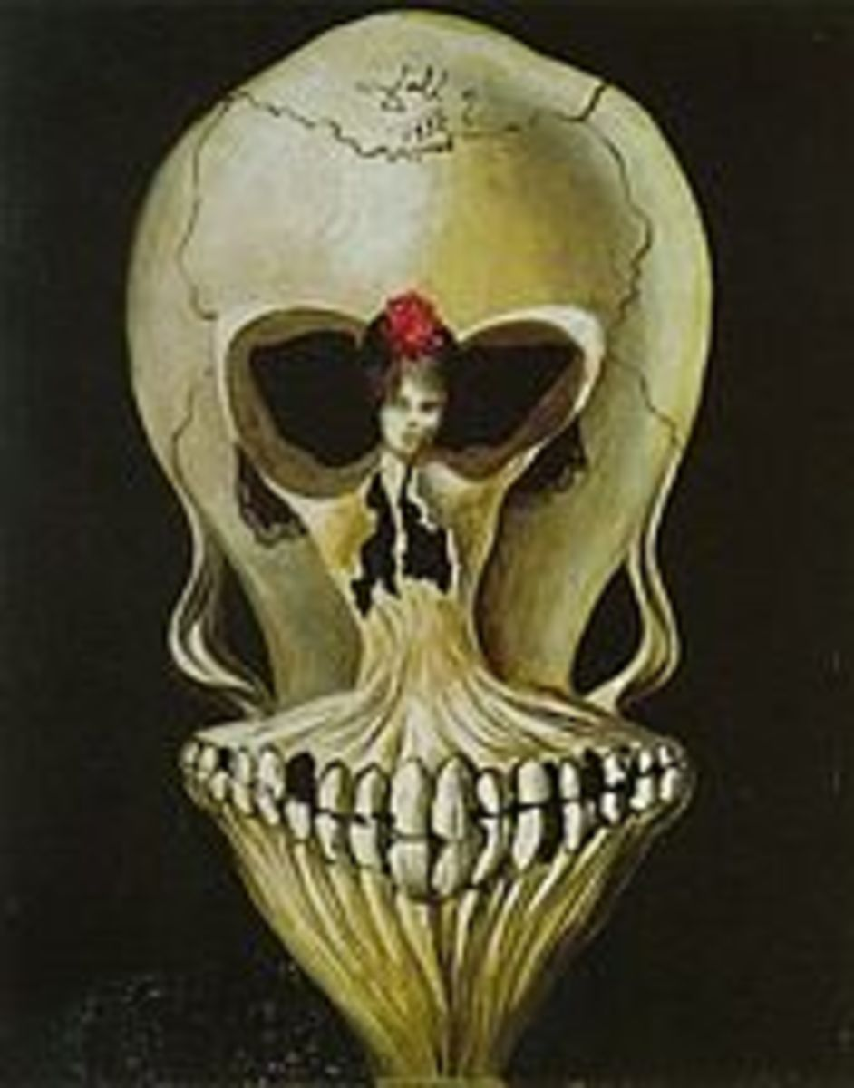 Salvadore Dali - Ballerina in a Death's Head