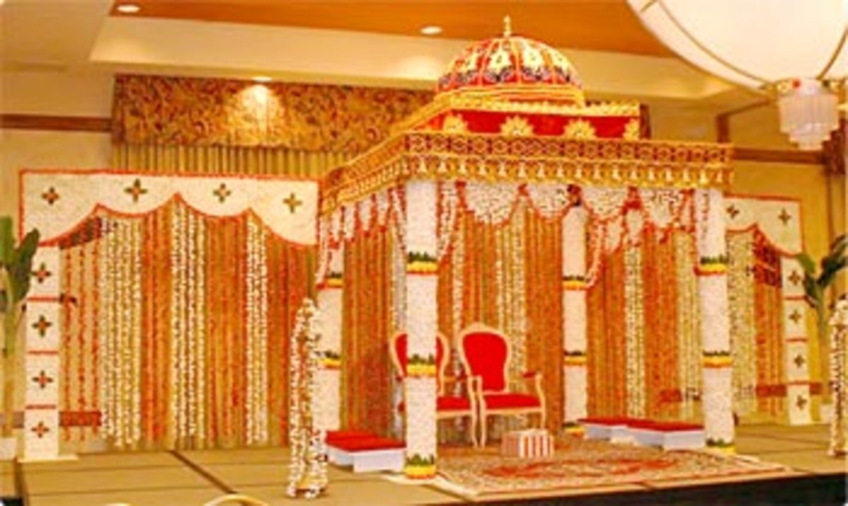 Wedding Hall Decorated with Marigold