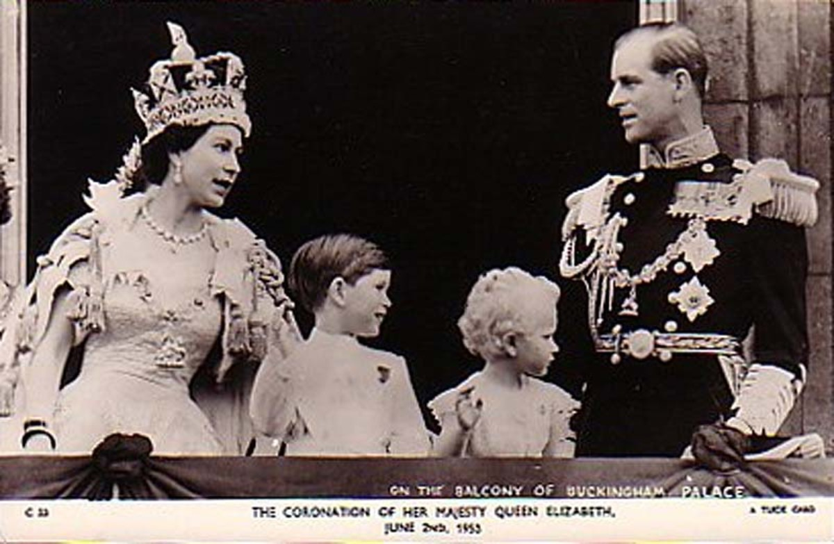 The coronation in June 1953