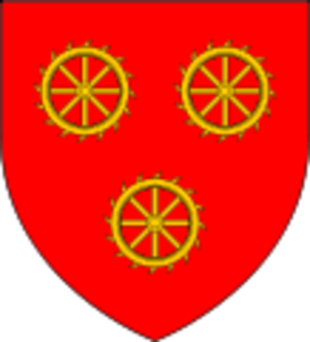 Katherine Swynford's Coat of Arms after her marriage to John of Gaunt.