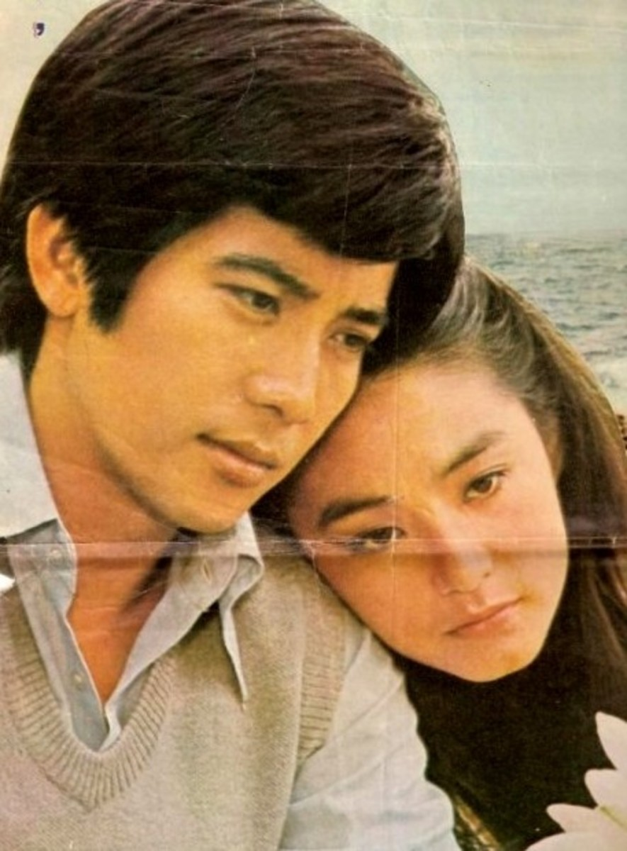 Lin Ching Hsia or Lin Qing Xia or Brigitte Lin with the love of her life
